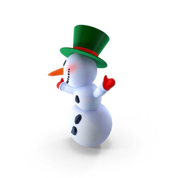 Muñeco de nieve de dibujos animados sonriente