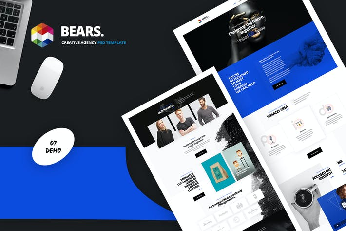 Thumbnail for Bear's - Creative Agency PSD Template