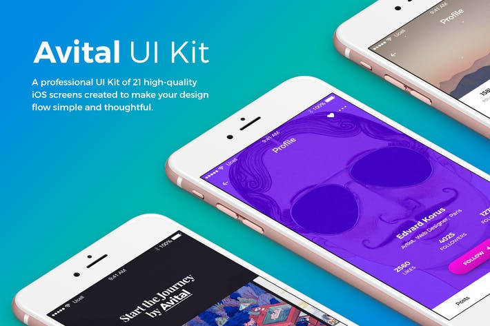 Thumbnail for Avital Mobile UI Kit