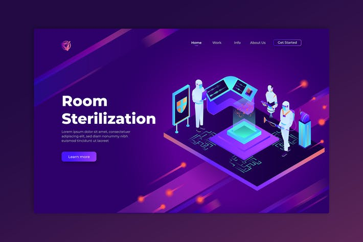 Thumbnail for Room Sterilization - Isometric Landing Page