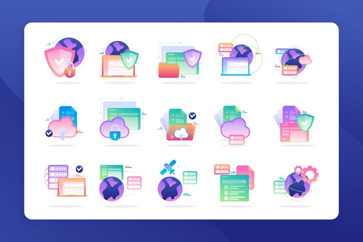 Thumbnail for Cloud Data - Icon Illustration