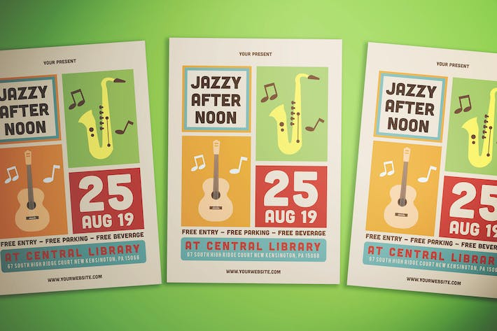 Thumbnail for Simple Jazz Event Flyer