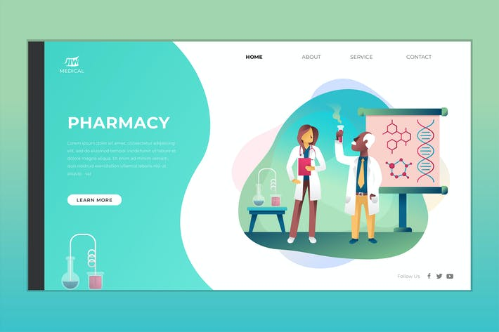 Cover Image For Pharmacy Landing Page Vector Template