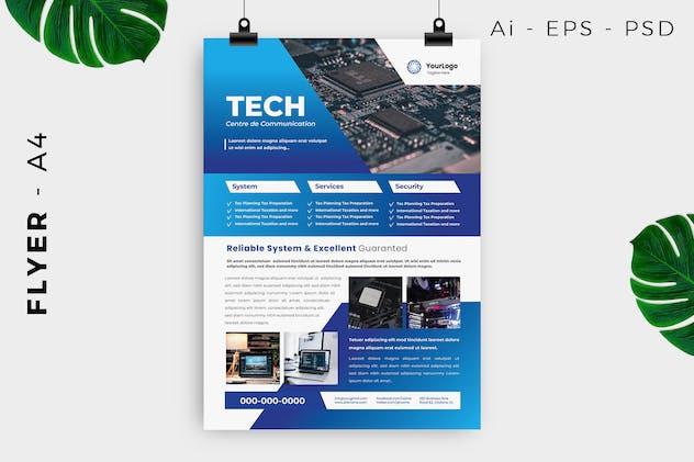 Technology Communication Flyer Design