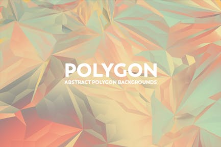 Abstract Polygon Backgrounds - Colorful Retro