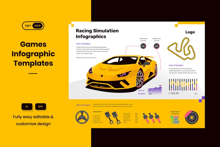 Thumbnail for Cool Infographic Examples for Racing & Online Game