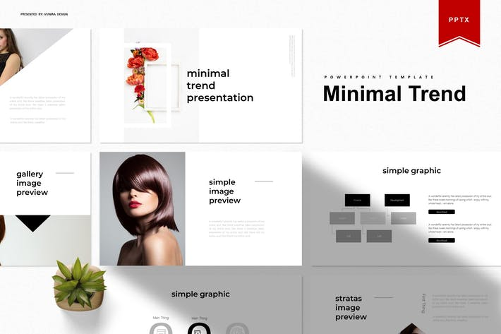 Thumbnail for Minimal Trend | Powerpoint Template