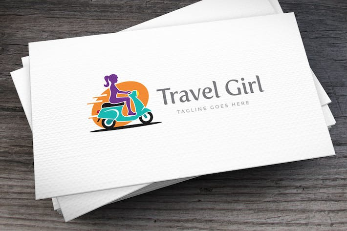 Thumbnail for Travel Girl Logo Template