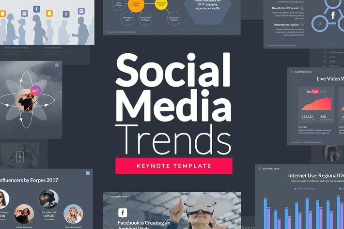 Thumbnail for Social Media Trends - Keynote Template