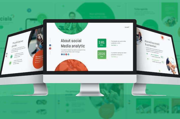 Sociala - Social Media Google Slides Template