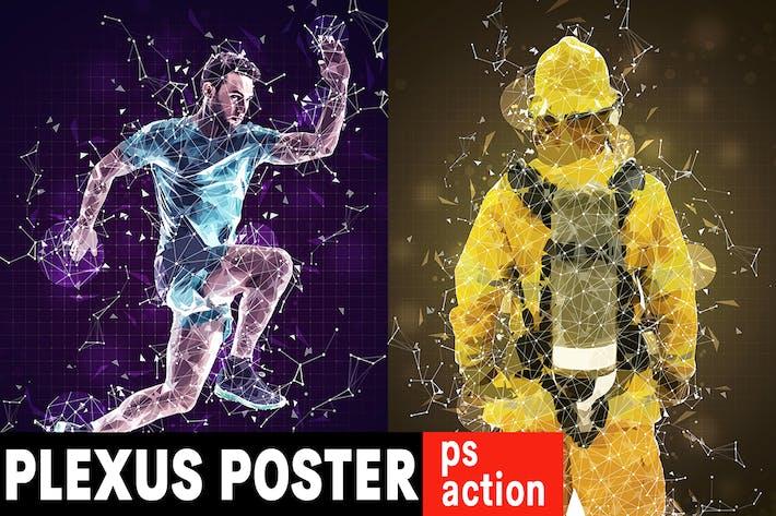 Thumbnail for Plexus Poster Photoshop Action