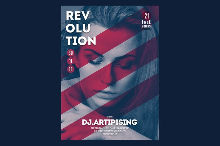 Thumbnail for Revolution Music Flyer Poster