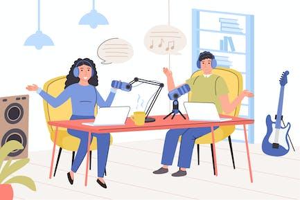 Recording Audio Podcast Concept