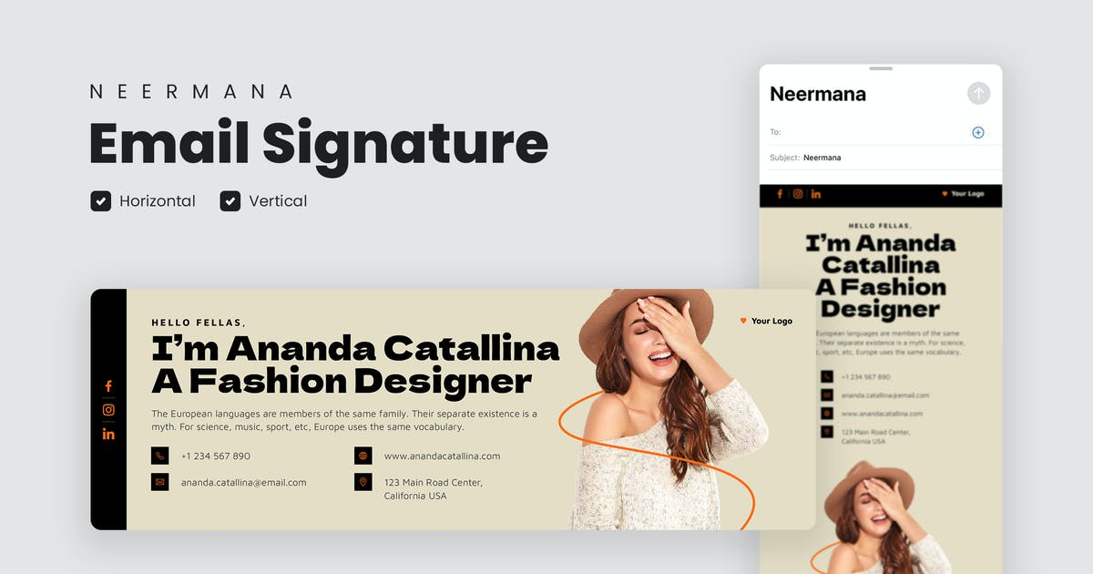 Download Email Signature Template V.25 by Neermana