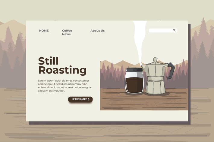 Thumbnail for Coffee Morning Landing Page Illustration