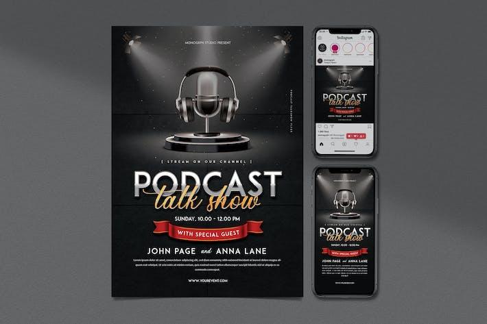Thumbnail for Podcast Talkshow Flyer Set