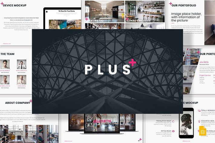 Cover Image For PLUS - Google Slides Template