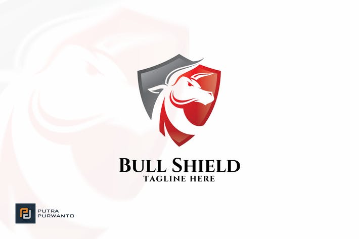 Thumbnail for Bull Shield - Logo Template