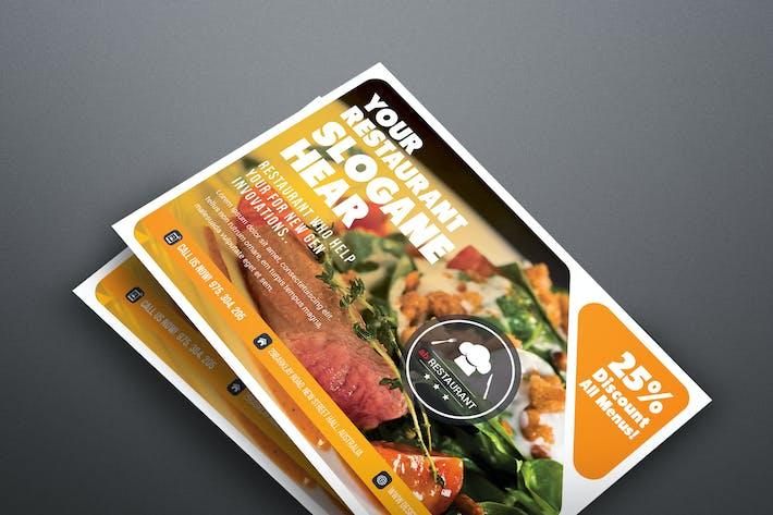 Thumbnail for Restaurant Postcard Templates