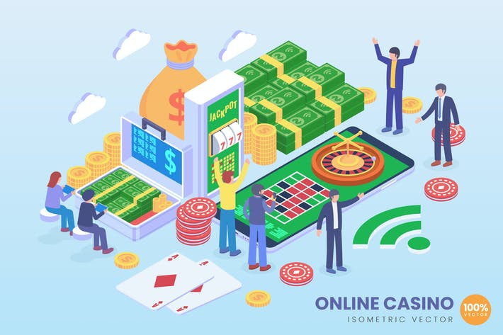 Thumbnail for Isometric Online Casino Technology Vector Concept