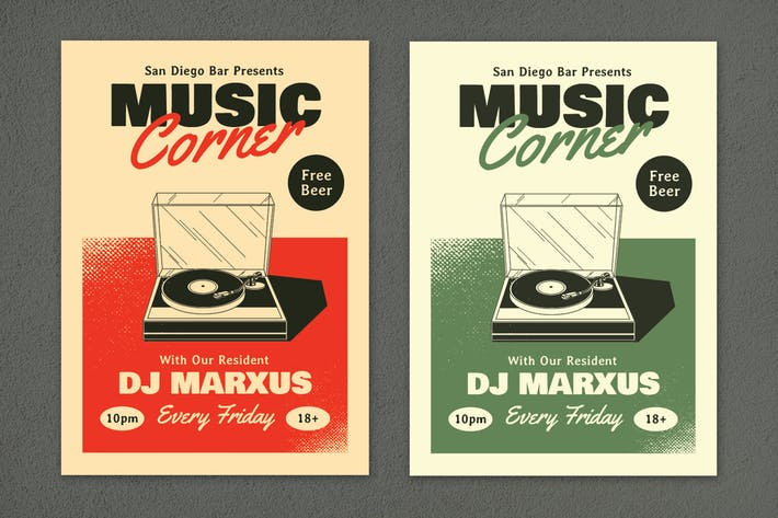 Thumbnail for Vintage Music Corner Flyer