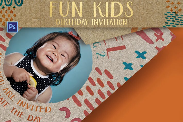 Thumbnail for Fun Kids Birthday Invitation