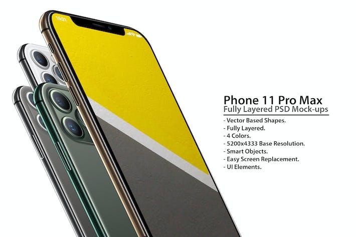 Thumbnail for Phone 11 Pro Layered PSD Mock-ups