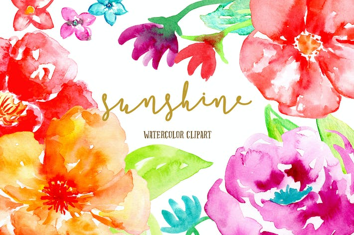 Thumbnail for Red Flower Clip Art Sunshine