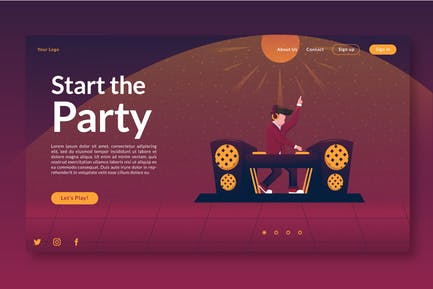 Start the Party - Landing page GR