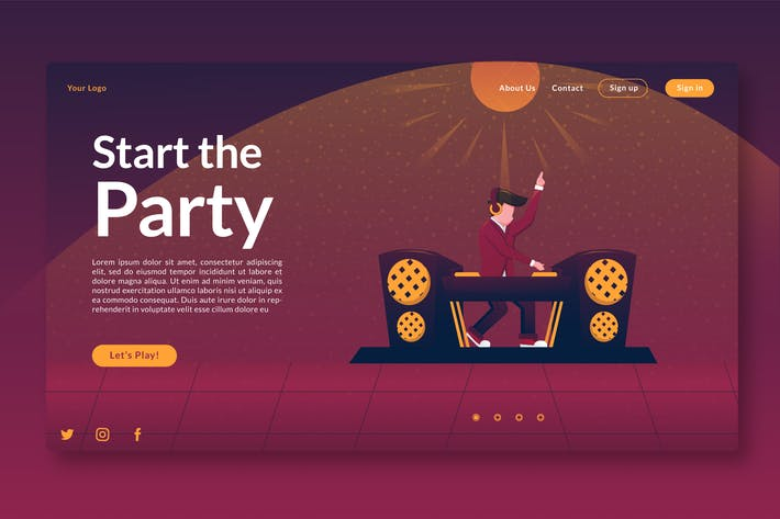 Thumbnail for Start the Party - Landing page GR