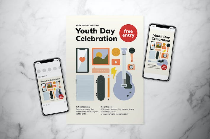 International Youth Day Flyer Set