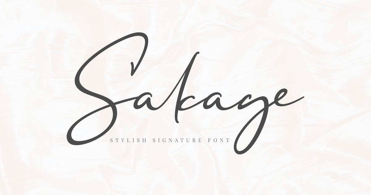 Download Sakage Signature Font by aqrstudio