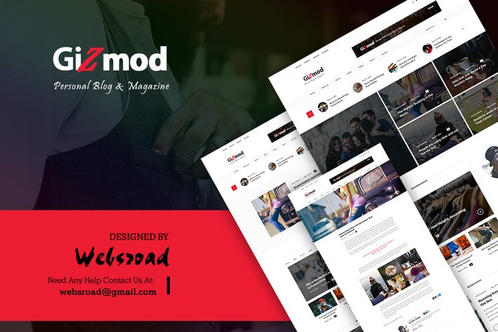 Thumbnail for Gizmod - News, Magazine, Blog PSD Templates