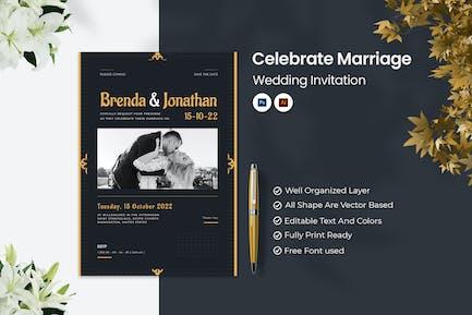 Celebrate Marriage Wedding Invitation