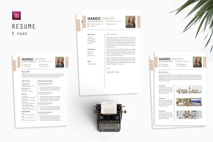 Interior Designer date Resume Designer