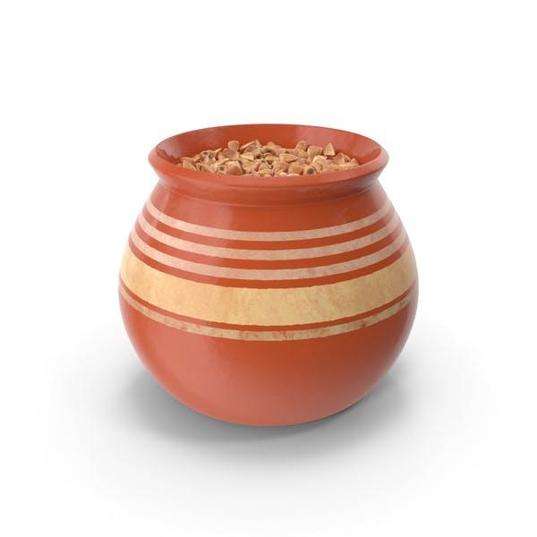Keramiktopf mit Buchweizen