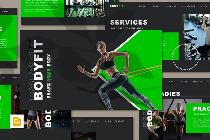 Thumbnail for Bodyfit - Fitness Google Folien Vorlage