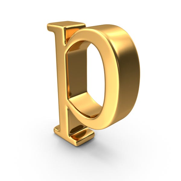 Thumbnail for Gold Small letter p