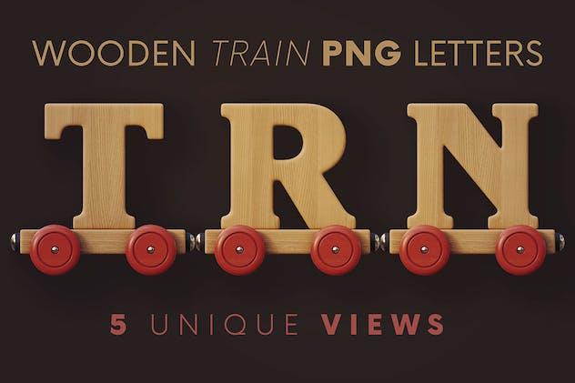 Wooden Train - 3D Lettering