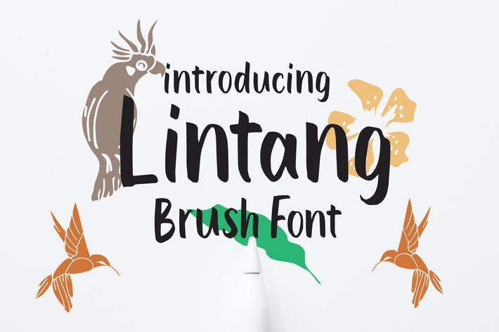 Thumbnail for Lintang - Police de pinceau