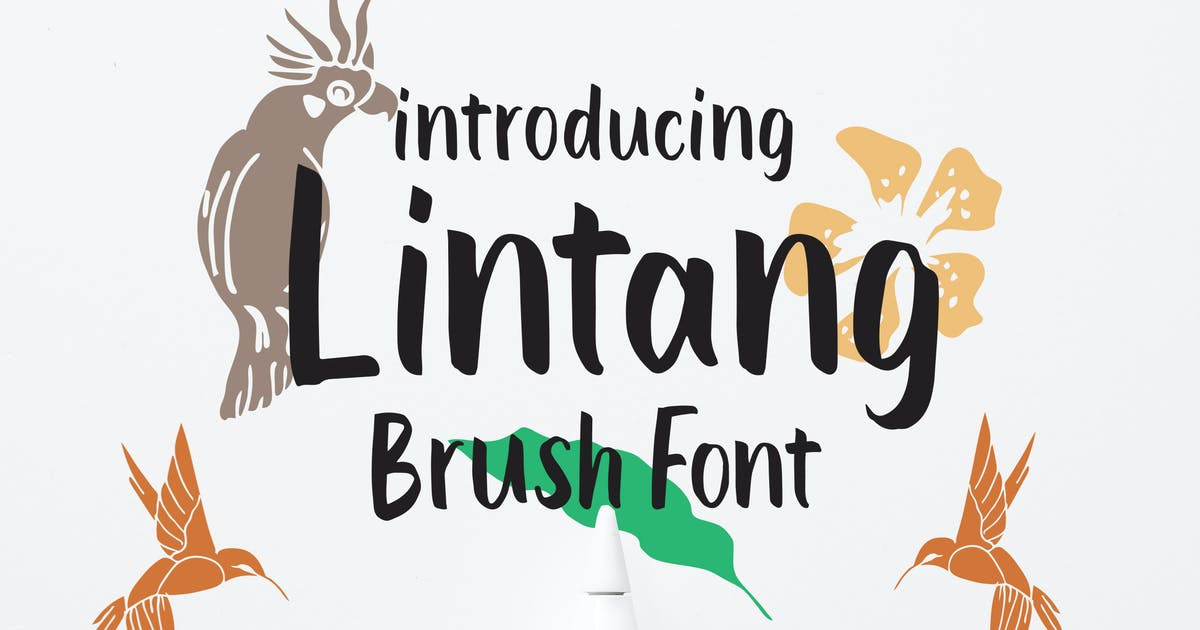 Download Lintang - Brush Font by Macademia