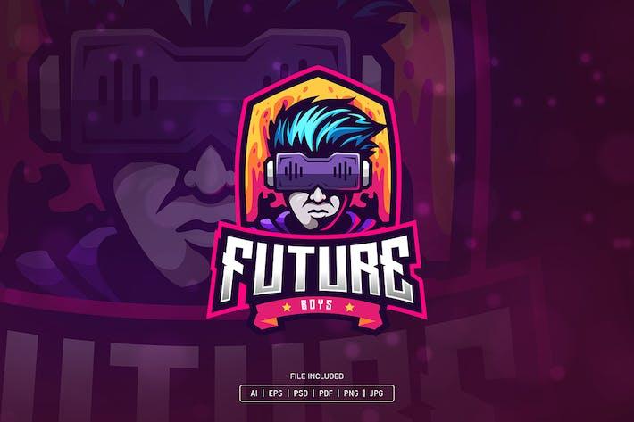 Thumbnail for Futuristic boy esport logo