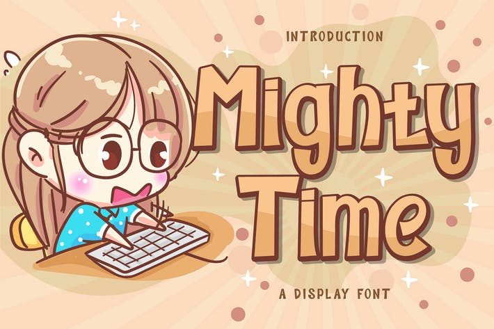 Mighty Time Display Font
