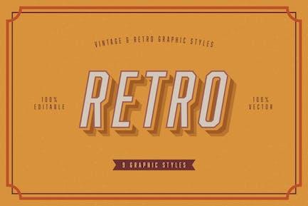 Retro Vintage Graphic Styles