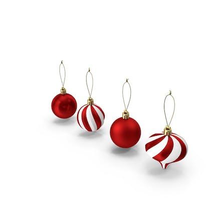 Juego de adornos de bolas de Navidad surtidos