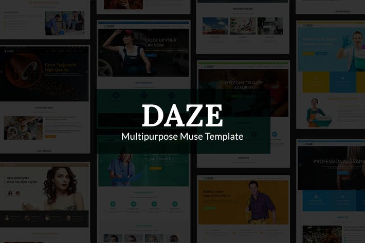 Thumbnail for DAZE - Ultimate Business Muse Template