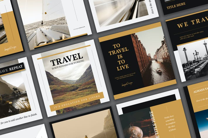 Thumbnail for Travel Social Media Template Pack