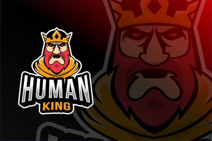 Thumbnail for Plantillas de logotipos del Rey Humano Esport