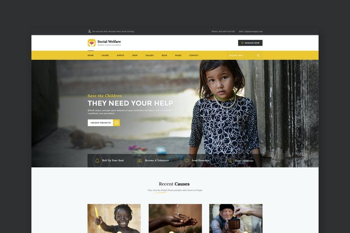 Cover Image For Social Welfare: Charity & Non-Profit HTML Template