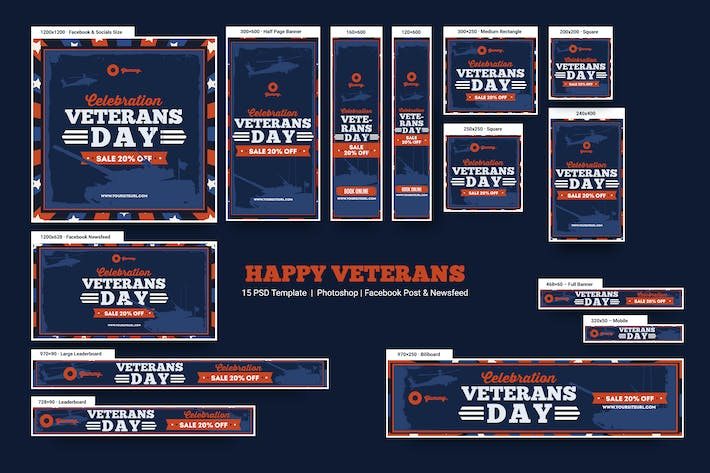 Thumbnail for Happy Veterans Banners Ad